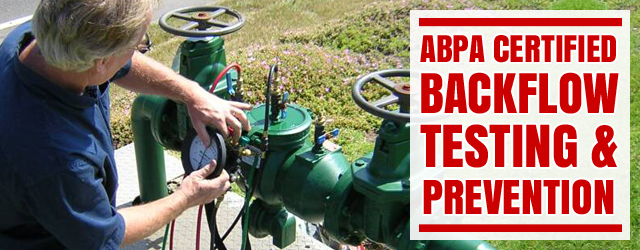Certified Backflow Testing and Prevention